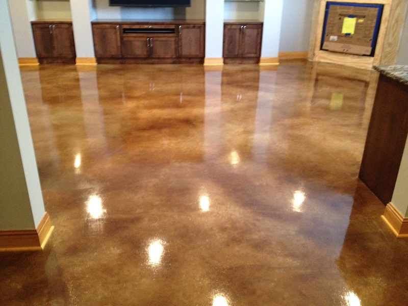 Interior concrete floors st paul minneapolis mn acid for How to clean concrete floors before staining